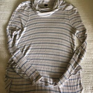 Free People light blue and white sweater